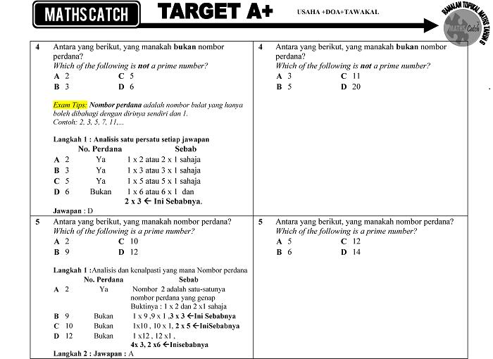 Soalan Matematik Tingkatan 1 Serta Jawapan Pewarna B